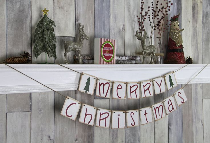 CHRISTMAS DECORATION Merry Christmas Banner - Christmas Photo Prop - Christmas Sign - Christmas Bunting - Christmas Garland by WeddingBannerLove on Etsy