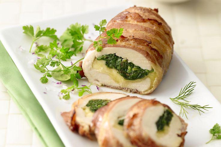 gevogelte - kipfilets, gerookt spek, ... - Verwarm de oven voor op 180 °C.