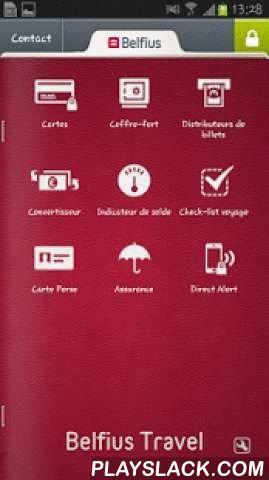 Belfius Travel  Android App - playslack.com , Belfius Travel est une application futée, bien pratique pour voyager tranquille.Découvrez ci-dessous les différentes fonctions de Belfius Travel :------------------------------------------------------------------------- Cartes de crédit : suivre les dépenses et les clôtures de votre carte de crédit, augmenter ou diminuer la limite de dépense de votre carte de crédit- Coffre-fort : Ouvrez votre coffre électronique, mettez-y des photos de vos…