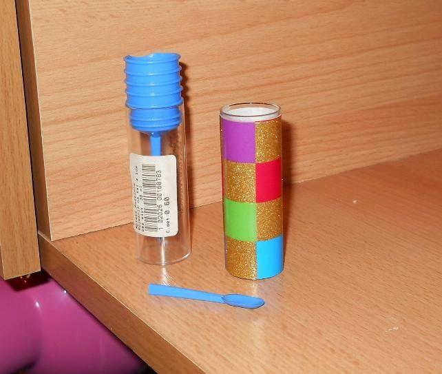Meble Dla Barbie - zrób je sam: Kolorowy wazon + łyżeczka z pojemniczka na kał :D
