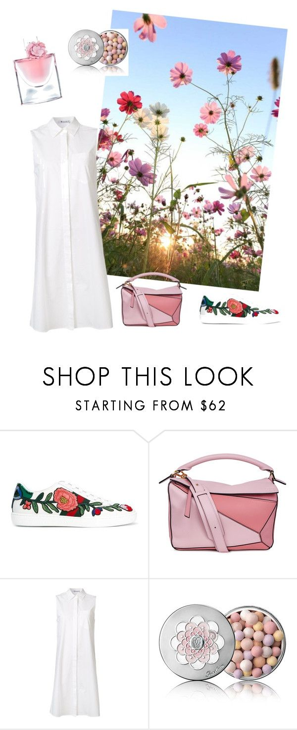 """Untitled #5"" by alya-volov on Polyvore featuring Gucci, Loewe, T By Alexander Wang, Guerlain and Lancôme"