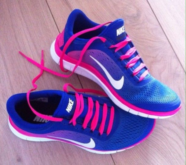 shoes nike nike free run blue pink running nike running shoes joggen sports  shoes blue nike free blue nike white neon pruple hot pink free run trainers  ...