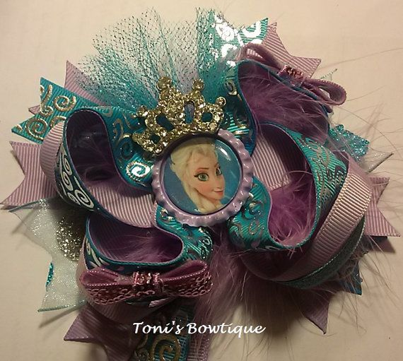 Hey, I found this really awesome Etsy listing at https://www.etsy.com/listing/176714804/frozen-bow-disney-frozen-bow-elsa-crown