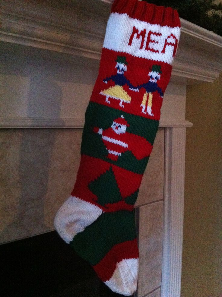 Knitted Personalized Christmas Stockings