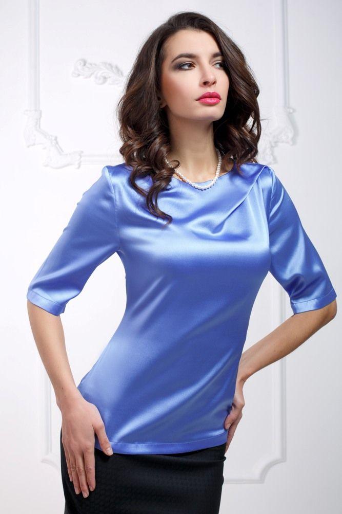 Блузка из натурального шелка АРТ. 1701 купить недорого в интернет-магазине Splensilk.