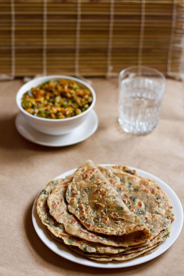Methi paratha for breakfast never grew tiresome. (New Delhi, India)