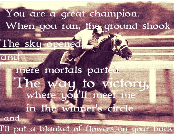 You are a Great Champion, When you ran the ground shook...