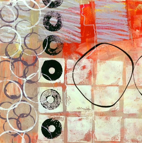 Leather Accent Tag - Abstract Colors 6 by VIDA VIDA DXqBkmI4J5