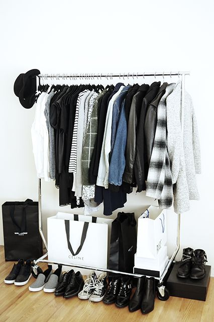"""Inside The Closets Of 6 L.A. Bloggers #refinery29 http://www.refinery29.com/los-angeles-bloggers#slide10 The first time I ever splurged and bought something expensive for myself was...""""The perfect pair of rag & bone skinnies while I was in NYC a few years ago. I was 18, and spending $250 on a pair of jeans was a big deal.""""The one item you will NEVER find in my closet is...""""Neon/bright colors. I always wear neutral colors. I just prefer the way black, white, grey, and denim look ..."""