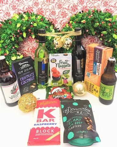 Wine hamper including wines, cider, chocolate,  and more.  Liquor Mart is an online liquor store in NZ, offers a variety of #wine, #spirits at low prices. Choose and order online.