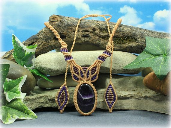 Amethyst Shield of Light necklace  handcrafted by MundialTreasures