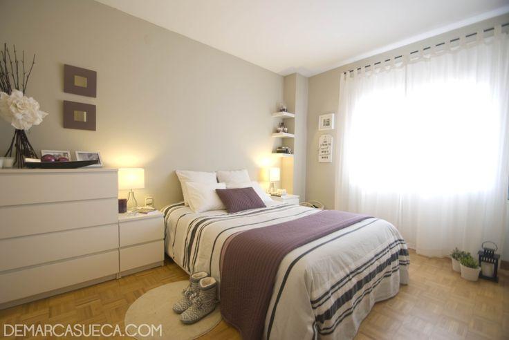 Habitaci n de matrimonio con mobiliario malm de ikea for Mobiliario habitacion matrimonio