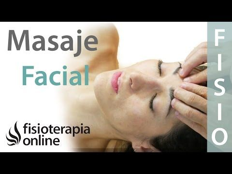 Cómo hacer un masaje relajante de cara o facial - YouTube
