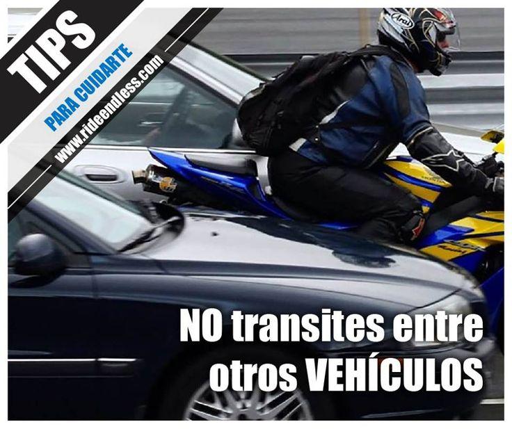 No transites entre otros vehículos Para las motocicletas la visibilidad es un punto todavía más crítico que para los automóviles. Sin embargo, las maniobras de rebase no son muy diferentes que en la conducción de un auto; por lo tanto, asegúrate de ser visto por los otros conductores y que, asimismo, tu los puedas ver. #TipsRideEndless #Tips #RideEndless #Motorrad #BMW