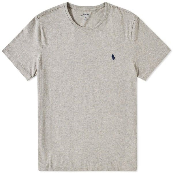 Polo Ralph Lauren Custom Fit Crew Tee ($59) ❤ liked on Polyvore featuring men's fashion, men's clothing, men's shirts, men's t-shirts, mens polo t shirts, j crew mens shirts, mens tailored shirts, men's cotton polo shirts and mens polo shirts