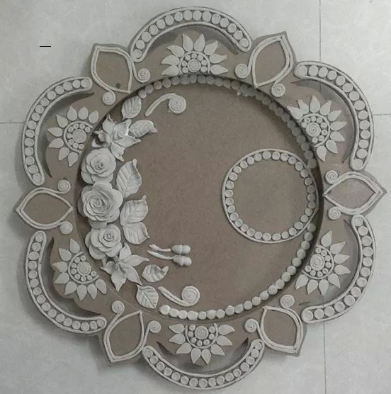 Pooja thali wedding pinterest for Aarti thali decoration with clay