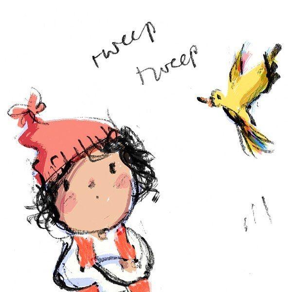 Tweep tweep  #illustration #sketchbook #kidlitart