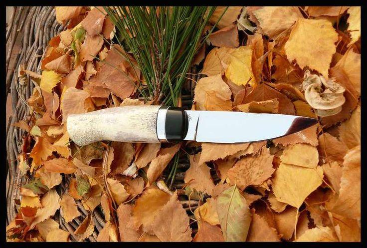 Egyedi kések | Angelero Manufacturing 9,5 cm penge ében / agancs markolat