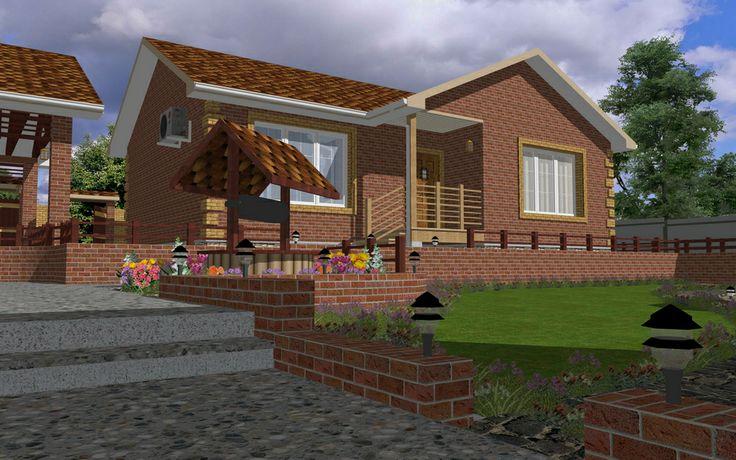 """House at the River"" 3D Model - Created by Michael Pechkurov using TurboFloorPlan 3D Home & Landscape Pro v16"