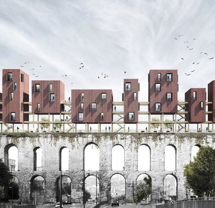 turkish architecture studio superspace has proposed a recreational and residential intervention for one of istanbul's forgotton landmarks.