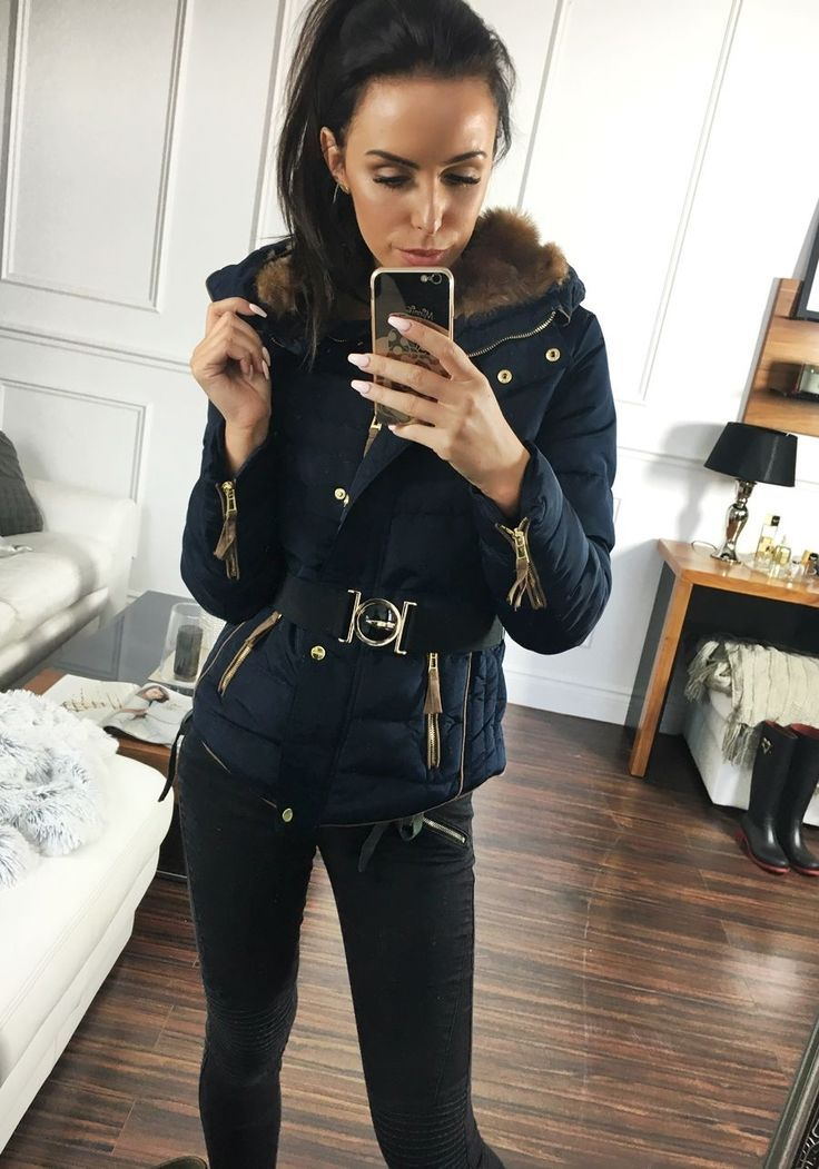 Dark blue winter jacket