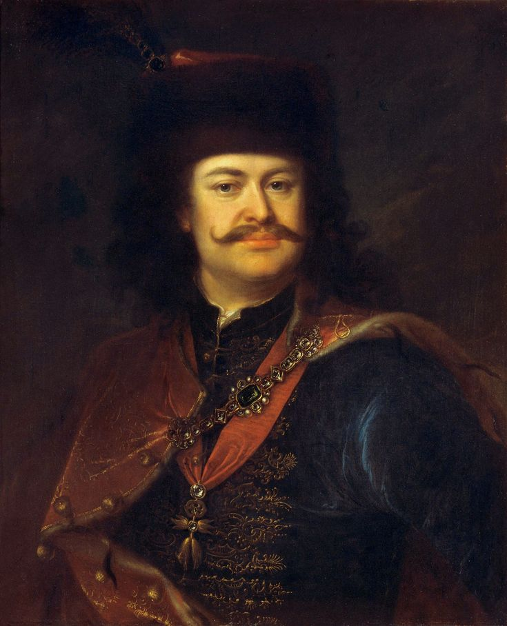 """Portrait of Francis II Rákóczi, Prince of Transylvania by Ádám Mányoki in Gdańsk, 1712 (PD-art/old), Magyar Nemzeti Galéria; between 1701 and 1703, Sieniawska was involved in the insurrection in Hungary, which she financially and politically supported, the rebellion's leader Francis Rákóczi, became her lover. He fell out of favor """"because he is not a Frenchman but a German"""" after his support for Augustus II and refusing to candidate for the Polish throne in 1712"""