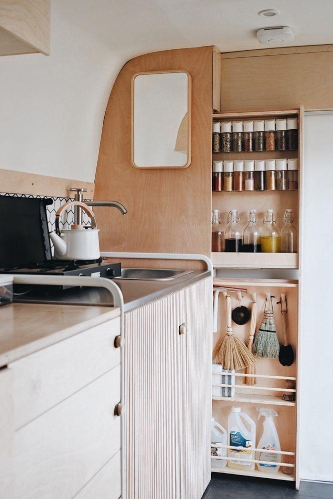 51 Rv Cabinet Storage Ideas That You Like Tiny House Storage Van Storage Rv Kitchen Organization