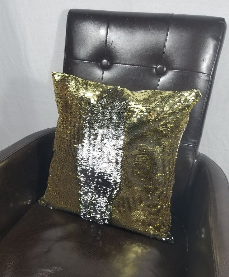 Amazing Gold and Silver Mermaid Sequin Cushion Cover.