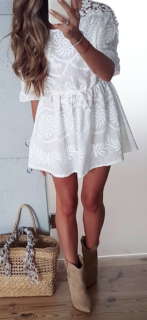 Cute white dress