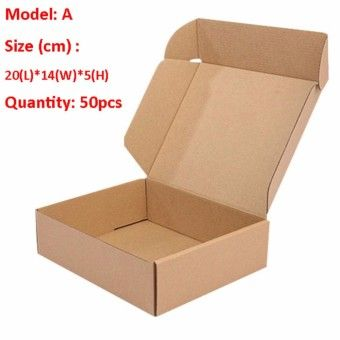 Buy Smart Foldable Corrugated Box Express Delivery Packaging Box Cardboard Package Mailer Boxes For Ecommerce Shipping Packing Protection Size 20cm(L)*14cm(W)*5cm(H) 100Pcs/Lot SM0040A(100) online at Lazada. Discount prices and promotional sale on all. Free Shipping.