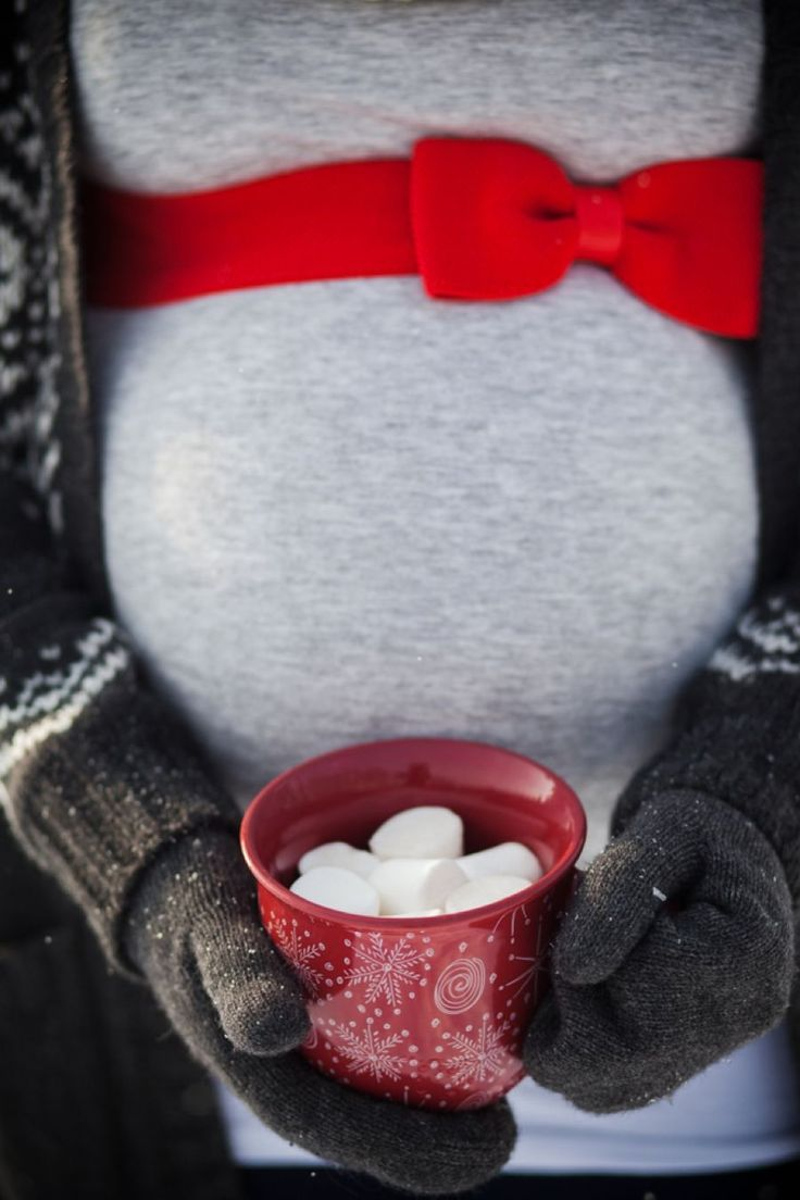 Another way to keep warm in colder shots, something warm to drink! Plus it is super cute :)