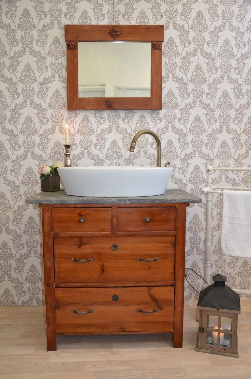 Die 25 besten ideen zu waschtisch selber bauen auf pinterest badezimmer waschtische - Badmobel holz landhaus ...