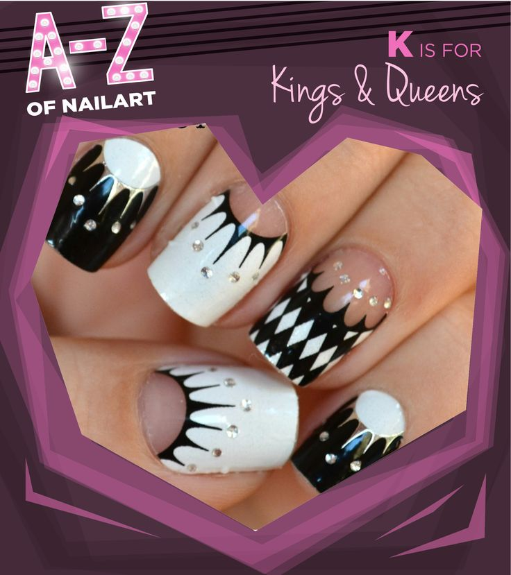 K is for Kings & Queens. #A-ZNailArt