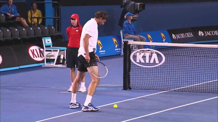 Goran Ivanišević funny playing tennis in Australia open 2014 (HD)