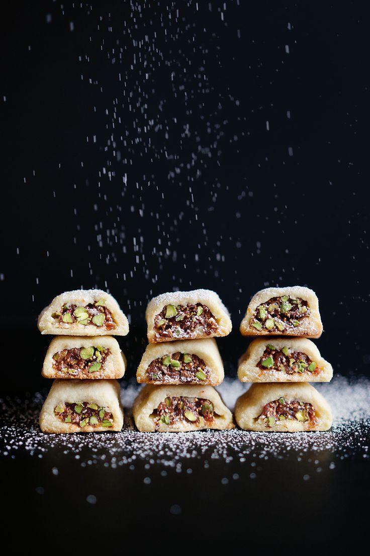 Sablés mit einer Füllung aus Feigen und Pistazien // French Cookies with a Fig and Pistachio Filling // Berliner Küche