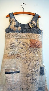 Thread and Thrift: Quilted Cloth Kits Dress...incredible