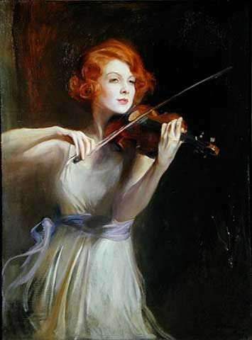 ♪ The Musical Arts ♪ music musician paintings - Philip Alexius de Laszio | Miss Lisa Minghetti, 1933.
