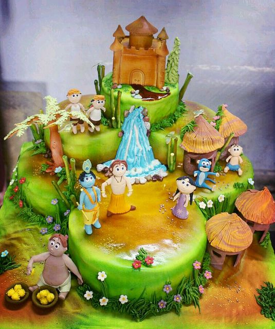 Cake Images Krishna : 1843 Best images about Cakes! Party cakes! Birthday cakes ...
