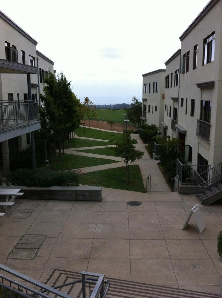 ocean view from campus UCSC