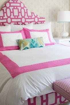 Pink and Aqua Teen Bedroom - contemporary - kids - los angeles - Annette Tatum