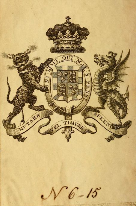 Armorial Bookplate: Coat of arms of the Dukes of Beaufort. The dukes of Beaufort are descendants in the male line from the House of Plantagenet through John of Gaunt and Edward III. Beaufort Castle was a possession of John of Gaunt, and the surname Beaufort was given to Gaunt's four legitimized children by his mistress and third wife, Katherine Swynford…