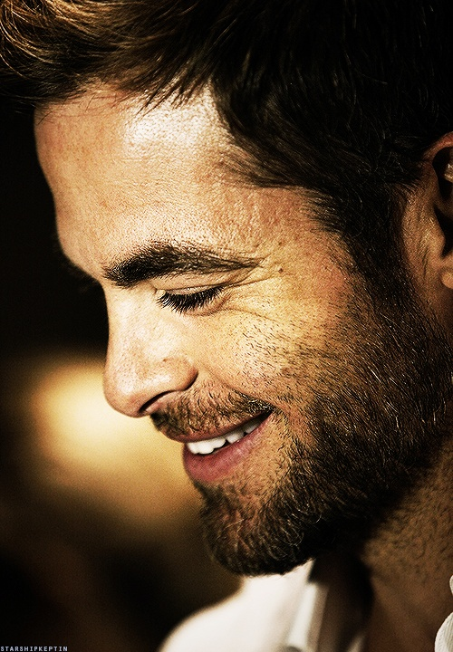 Chris Pine One of the only guys that I think looks good not clean cut.
