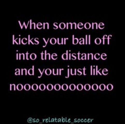 then u go and kick their soccer ball as hard as u can to make it go farther  for revenge :)