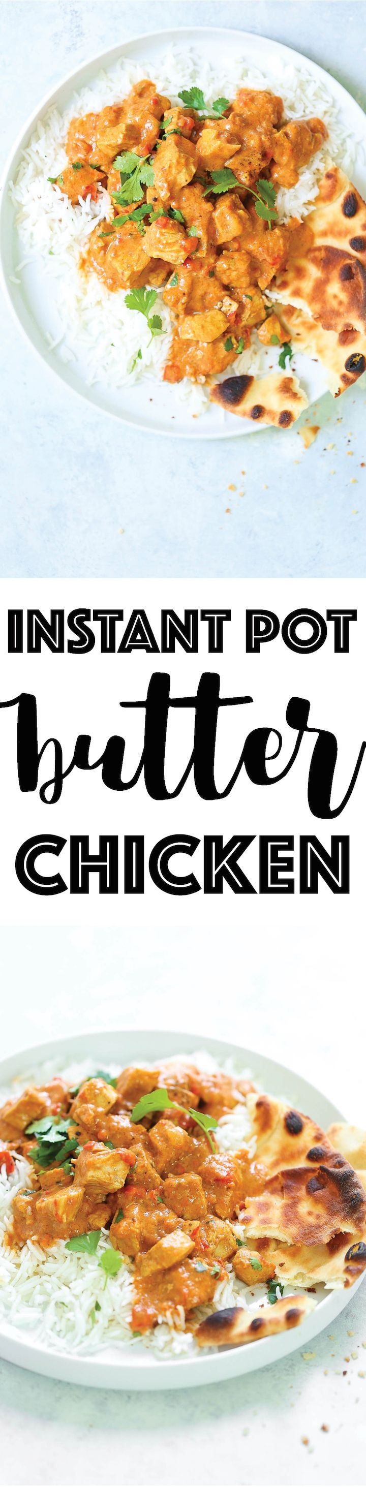 Instant Pot Butter Chicken - Yes, you can EASILY make restaurant-quality butter chicken right in your pressure cooker! The flavors are amazing and the chicken is perfectly melt-in-your-mouth tender! Serve with rice and naan for the best home-cooked meal ever.