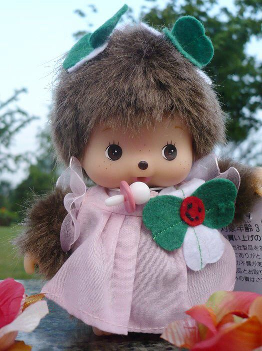 Cute pink dressed monchichi. & The 86 best Monchichi ? images on Pinterest | Childhood memories ...
