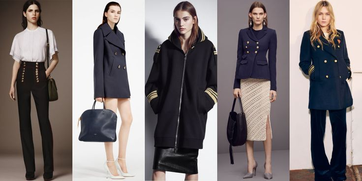 We've seen army fatigues for the past few seasons, but this season, designers are turning toward a new military branch: the Navy. Pieces to invest in: sailor pants and double-breasted coats.Left to Right: Burberry, Nina Ricci, Neil Barrett, Altuzarra, Tommy Hilfiger