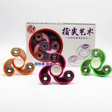 Tri-Spinner Spinner Fidget conjunto de Juguete De Plástico Mano Para El Autismo y el Tiempo de Rotación Larga Juguetes Antiestrés
