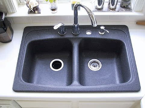 Haze on your black granite composite sink?  On a regular basis clean the sink with dish washing detergent (Dawn). For water spots use white vinegar and to deep clean us Magic Eraser. To restore the luster use Orange Glo. The Orange Glo really shines the sink. No more Haze!!!