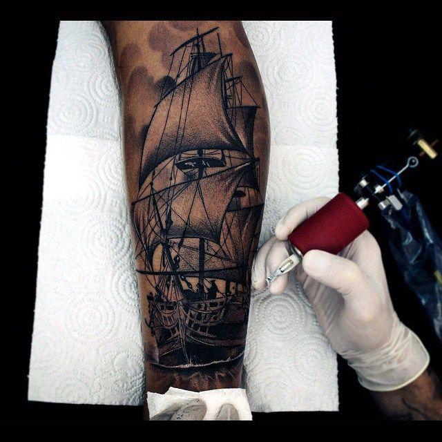 Color Tattoo By Matt From Black Sails Tattoo: Best 25+ Sail Tattoo Ideas On Pinterest