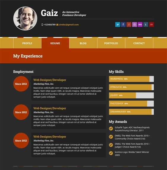 Wordpress Resume moticv is a clean and flexible wordpress theme helpful to represent your personality and skills in a very creative way the theme features a clean You Showcase Your Skills Education Experience And Portfolio Online Then You Have To Check Out Our Favorite Cv Vcard And Resume Wordpress Themes
